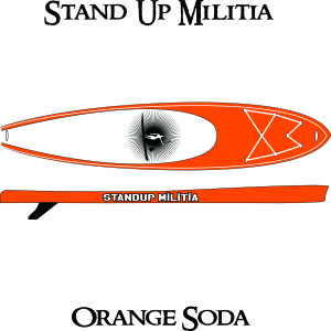 Inflatable orange soda 1